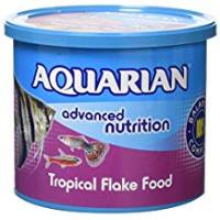 Tropical Fish [Sponsored]AQUARIAN Complete Nutrition, Aquarium Tropical Fish Food Flakes, 200 g Container