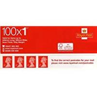 Stamps Royal Mail (Post Office) 1st Class Standard Self Adhesive 100 Stamps Book