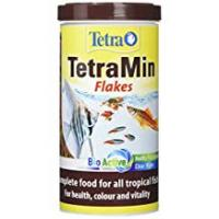 Tropical Fish Tetra Tetramin Fish Food Tropical Flakes, Complete Fish Food for All Tropical Fish with Clean and Clear Water Formula, 200 g
