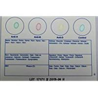 Groups 1 x Blood Type Test Kit - Group A, B, RhD Testing - Home EldonCard Tests