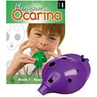 Ocarinas Plastic OCARINA, Purple 4-hole, with Book 1