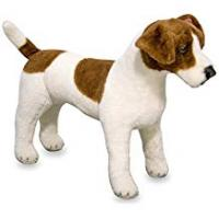 Melissa & Doug 14867 Giant Jack Russell Terrier Lifelike Stuffed Animal Dog, Brown and White, 30 cm