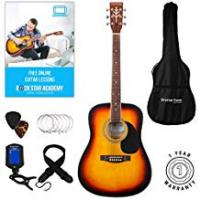 Guitars [Sponsored]Stretton Payne Dreadnought Full Sized Steel String Acoustic Guitar PACKAGE D1 Sunburst