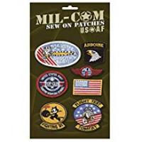 Patch Military Pack of Airforce Sew on Cloth Badges Military Patches on Card