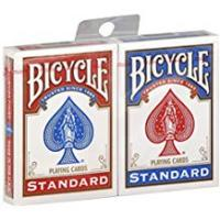1 X 2 New & Sealed Decks of Bicycle Playing Cards - 1 Red & 1 BlueP