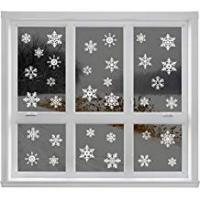 Christmas Decorations Articlings 2847279, 42 Original Snowflake Window Clings Fabulous Static PVC Stickers