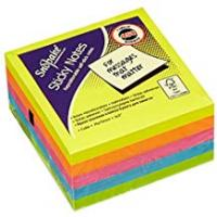 Cheap Scotches Snopake 11702 Sticky Note Cube (450 Sheets/Cube) - 76 x 76 mm, Neon/Assorted Colours