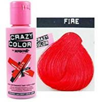 Box Hair Colors Crazy Colour Semi Permanent Hair Dye By Renbow Fire No.56 (100ml) Box of 4
