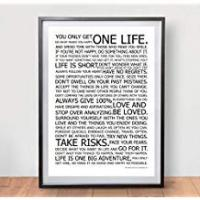 Quotes [Sponsored]LIFE MANIFESTO POSTER - The World Famous Original Motivational Quote Wall Art Picture Print - Size A2 (420 x 594mm)