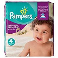 Diapers Pampers Active Fit 168 Nappies with Absorbing Channels, 8 - 16 kg, Size 4