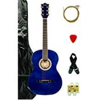 Directly Cheap Acoustic Guitars Directly Cheap 6 String Acoustic Guitar Pack, Blue + Learn to Play, 7/8 Size (000-BT-DK3810R-BLS+DVD)