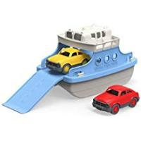 Boats Green Toys Ferry Boat with Two Toy Cars - Bath and Water Toys