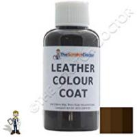 Leather Furnitures Leather Colour Coat Re-Colouring Kit / Dye Stain Pigment Paint (Dark Brown)