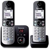 Cordless Phones Panasonic KX-TG6822EB Twin DECT Cordless Telephone Set with Answer Machine