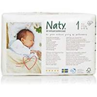 Diapers Naty by Nature Babycare Newborn Size 1 ECO Nappies - 4 x Packs of 26 (104 Nappies)