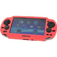 Sony Ps Vita Chargers Assecure Pro Red Silicone Gel Skin Protector Cover Protective Bumper Grip Case for Sony PS Vita (PSP PSV)