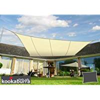 Canopies Kookaburra Water Resistant Sun Sail Shade Canopy in Ivory - 4m x 3m Rectangle