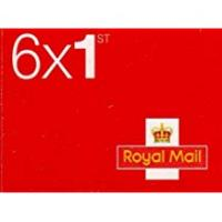 Stamps Book of 6 x 1st Class Royal Mail Postage Stamps