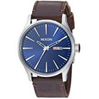 Nixon Watches NIXON Men's Analogue Quartz Watch with Leather Calfskin Strap – A1051524