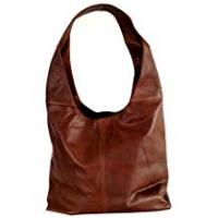 Soft Italian Brown Leather Handbag, Shoulder Bag or Slouch Bag