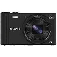 Cameras Sony DSCWX350 Digital Compact Camera with Wi-Fi and NFC (18.2 MP, 20x Optical Zoom) - Black