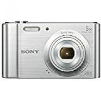 Cameras Sony DSCW800 Digital Compact Camera (20.1 MP, 5x Optical Zoom) - Silver