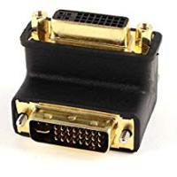 Toogoo(r) Computer Monitors TOOGOO(R) DVI-I 24+5 Pin Male to Female Right Angled Adapter LCD Monitor Connector