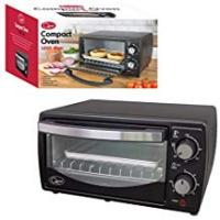 Ovens Quest Mini Oven, 9 Litre, Black