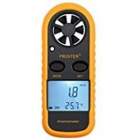 Windsurfings [Sponsored]Anemometer Digital LCD Wind Speed Meter Gauge Air Flow Velocity Measurement Thermometer with Backlight for RC Drones Helicopter Windsurfing Kite Flying Sailing Surfing Fishing Etc