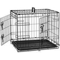 Pet Cages and Crates AmazonBasics Double-Door Folding Metal Dog Crate - Small