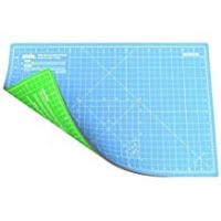 ANSIO A3 Double Sided Self Healing 5 Layers Cutting Mat Imperial/Metric 17 Inch x 11 Inch / (44cm x 29cm) -Sky Blue/Lime Green