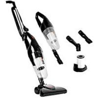 Carpet Vacuum Cleaners Duronic VC7/BK Upright Stick Vacuum Cleaner Hand held Corded HEPA Filter Bagless Stick Vac with Extra Filter and 2 in 1 Crevice/Brush Tool - Convert from Upright to Hand Held