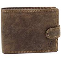 Wallets StarHide Men's RFID Blocking High Quality Brown Distressed Hunter Leather Notecase Wallet - Coins & ID Card Holder - 710 (Brown)