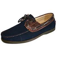 Boat Coolers Men's Coolers Faux Nubuck Leather Loafer Lace Up Boat Deck Shoes Sizes 7 - 11