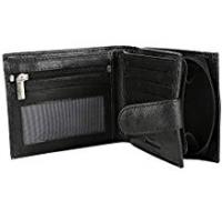 Wallets RFID Blocking Mens Designer BUONO PELLE Genuine Real Soft Leather Wallet with Large Zip Coin Pocket/Pouch Gift Boxed