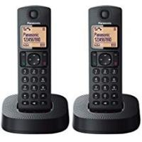 Cordless Phones Panasonic KX-TGC312EB Digital Cordless Phone with Nuisance Call Blocker - Black, Pack of 2