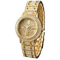 Zeiger Women Watches Full Crystal Bracelet Golden Ladies Watches W192