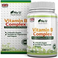 Vitamins Vitamin B Complex 180 tablets (6 month supply) - Contains all Eight B Vitamins in 1 Tablet, Vitamins B1, B2, B3, B5, B6, B12, D-Biotin & Folic Acid