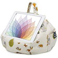 Tablet Bag With Stands iBeani iPad & Tablet Stand/Bean Bag Cushion Holder for All Devices/Any Angle on Any Surface - Woodland Scene