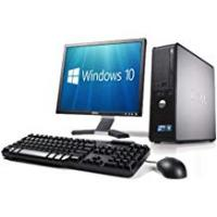 Computers WiFi enabled Complete set of Dell OptiPlex Dual Core Windows 10 Desktop PC Computer (Certified Refurbished)