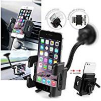 Insten Cell Holders Insten Universal Windshield Gooseneck Car Mount Cell Phone Holder For Apple iPhone X/ 8/ 8 Plus/ 7 Plus/ 7/ 6S/ 6S Plus, Huawei Google Nexus 6P, LG Google Nexus 5X, LG G5, Samsung Galaxy On5/ S7 Edge