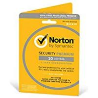 Antivirus Norton Security Premium 2019 |10 Devices | 1 Year | Antivirus Included | PC/Mac/iOS/Android | Activation Code by Post