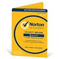 Antivirus [Sponsored]Norton Security Deluxe 2018 | 5 Devices | 1 Year | Antivirus included | PC/Mac/iOS/Android | Activation Code by Post