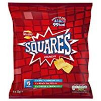 Discos Walkers Squares Variety Snacks, 22 g (Pack of 6)