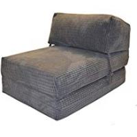 Futons Gilda JAZZ CHAIRBED - DA VINCI Deluxe Single Chair z Bed futon (Charcoal)