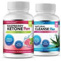 Diet Pills Raspberry Ketone and Natural Cleanse Detox Combo - UK Manufactured High Quality Supplement - Vegetarian & Vegan friendly – Top Selling Raspberry Ketone - Amazing Value Order Today from a Well Known Trusted Brand (60x Raspberry Ketone Pure + 60x Natural Cleanse Detox)
