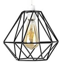 Lamp Shades Retro Style Black Metal Basket Cage Ceiling Pendant Light Shade