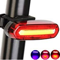 Bicycle Taillights Yakamoz Bicycle Taillight Ultra Red & Blue & Pink Light USB Rechargeable Light - 6 Modes in 1 LED Waterproof Bike Light