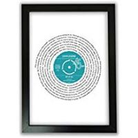 Print Personalised Vinyl Record of Song Lyrics - A4 Print Only - Any favourite song/words - Upgrade to Framed or A3