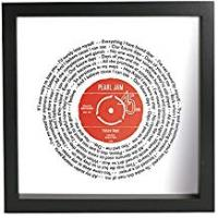 Prints NOT JUST A PRINT Personalised Lyrics Record Print And Song Vinyl Record    BLACK 23 x 23 cm Frame    Any Favourite Song Words   Personal or Plain Label